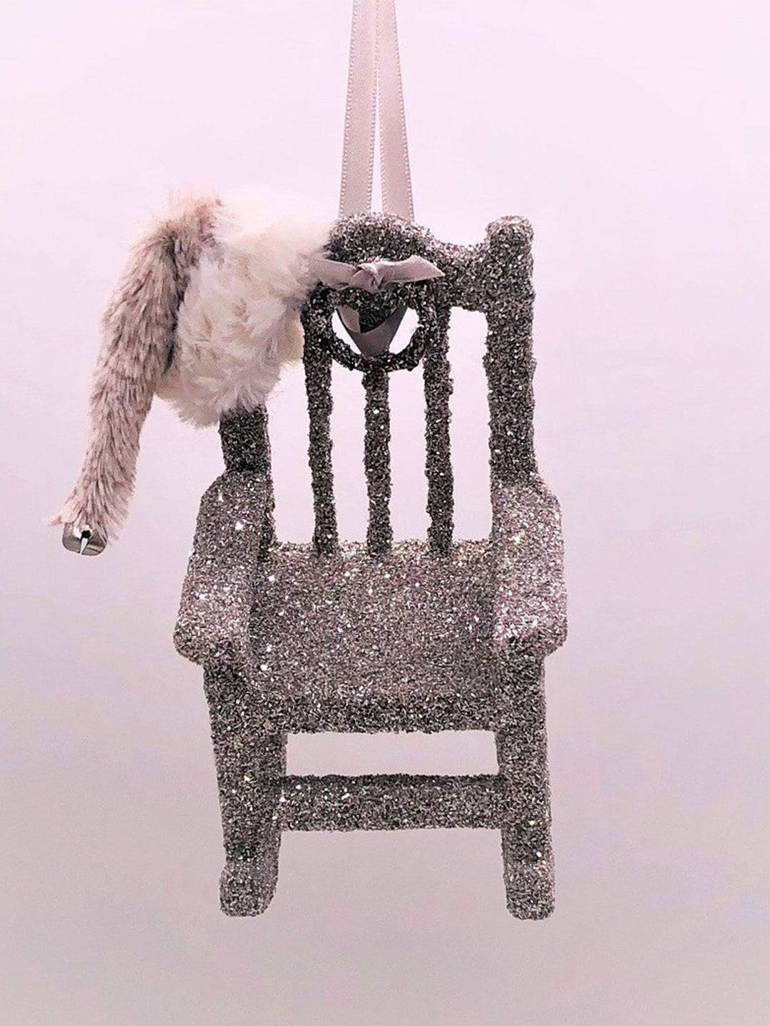 "Rocking Chair Ornament 3.5"" x 5.25"" - Silver"