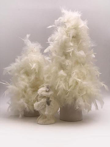 "Feather 26"" Tree - Cream"