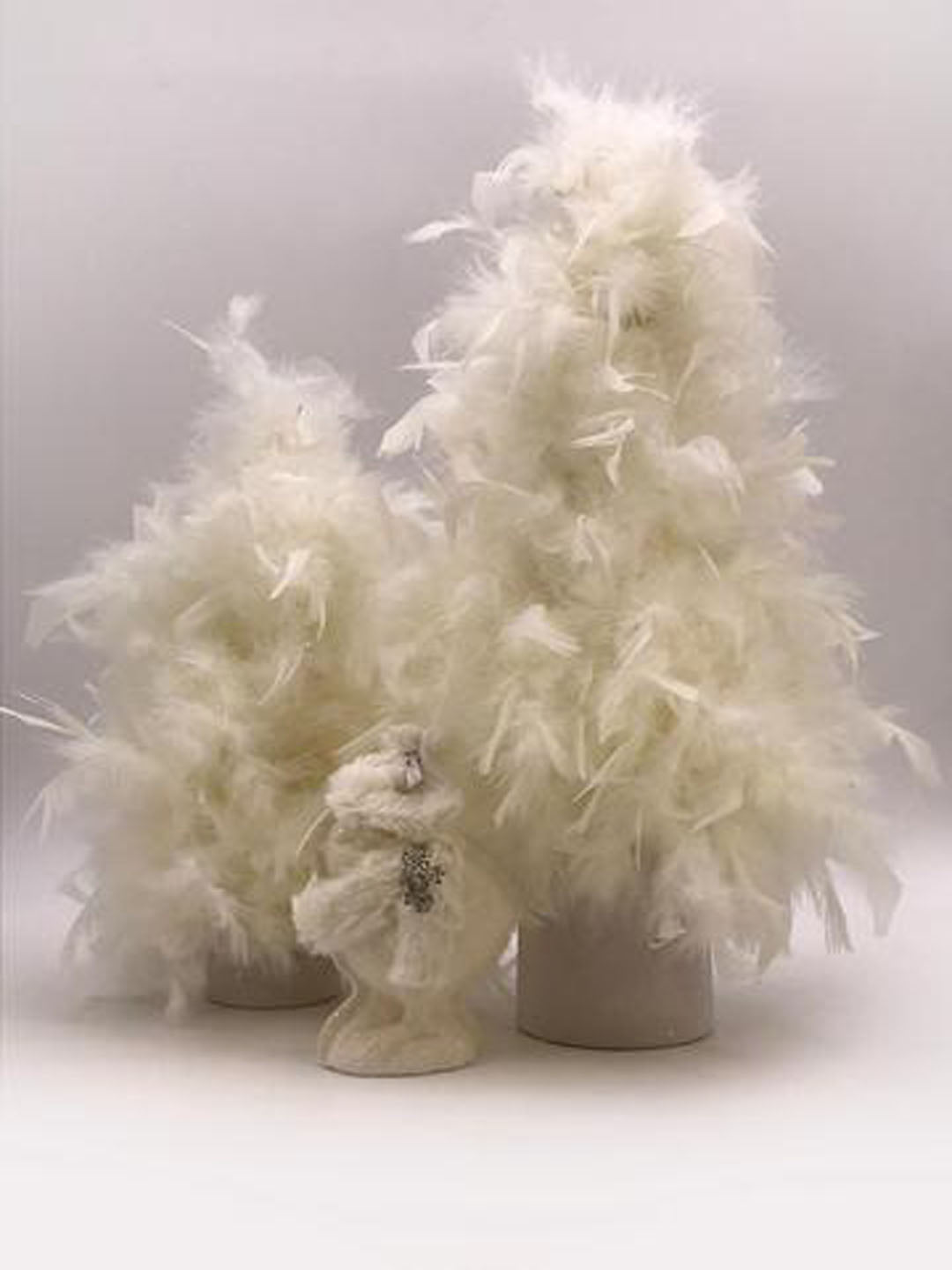 "Feather 19"" Tree - Cream"