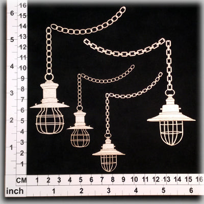 SCRAPMATTS - LAMPS 11 - 4 LAMPS + 4 CHAINS