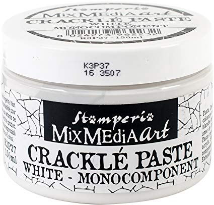 Stamperia - Mix Media Art- Crackle Paste White
