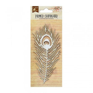 Little Birdie - Chipboard - Peacock Feather 1pc