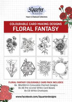 3 Quarter - Colourable Card Making Designs: Floral Fantasy