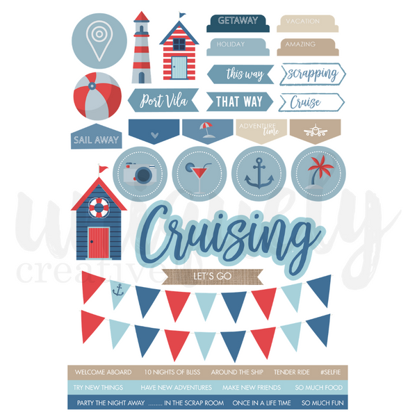 UNIQUELY CREATIVE - CRUISING CUT -A-PART SHEET