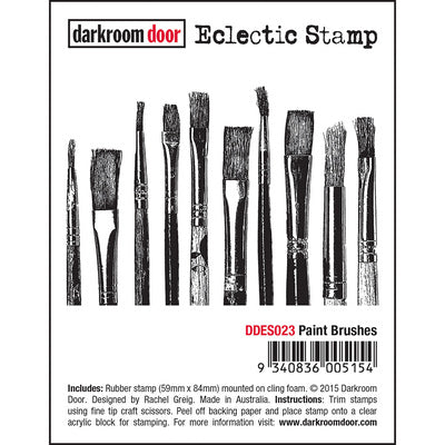 DARKROOM DOOR - ECLECTIC STAMP - PAINT BRUSHES (DDES023)