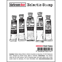 Darkroom Door - Eclectic Stamp - Paint Tubes DDES024