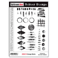Darkroom Door - Rubber Stamp Set - Grunge Marks (DDRS174)