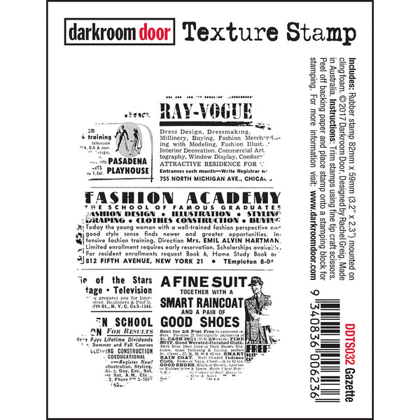 Darkroom Door - Texture Stamp - Gazette - DDTS032