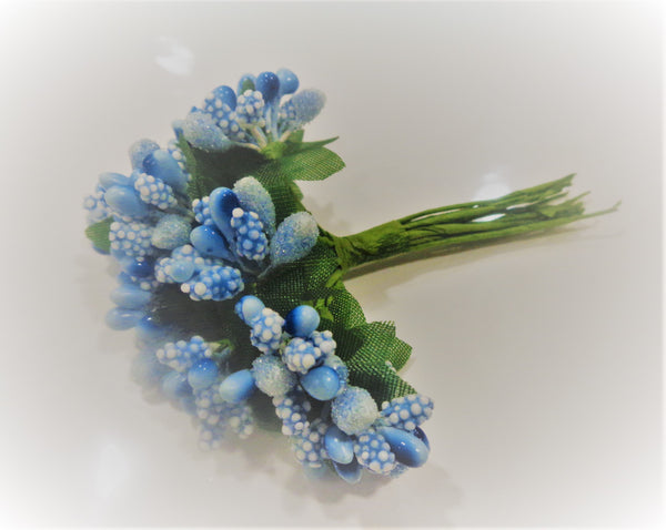 CRAFTY CONCEPTS - BLUE BEAD FLOWER