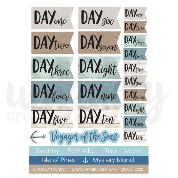 Uniquely Creative - Days Cut - a - Part Sheet
