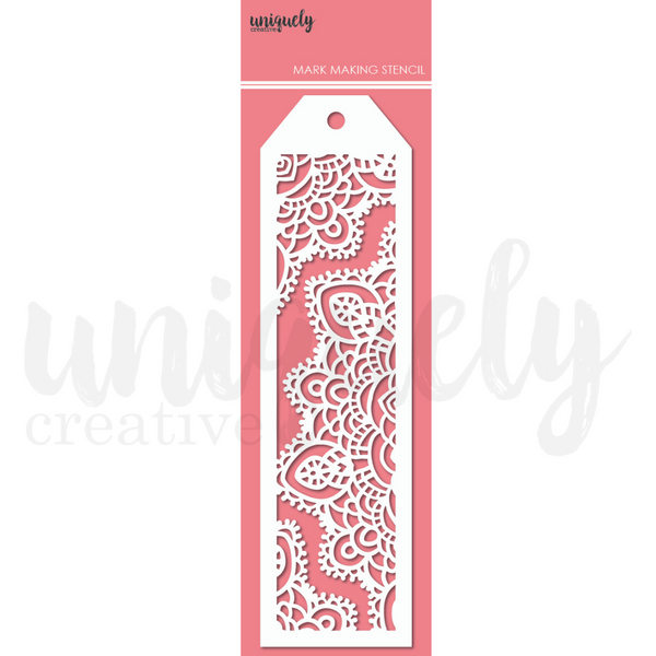 UNIQUELY CREATIVE - DOILY TEXTURE MARK MAKING STENCIL