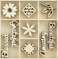 Kaisercraft - Wooden Flourish - Beautiful