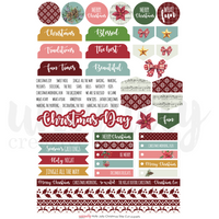 UNIQUELY CREATIVE - HOLLY JOLLY CHRISTMAS CUT -A-PART SHEET