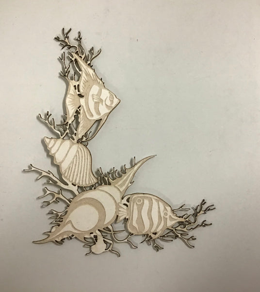 Scrap Collections - Fish Cnr Frame Cut Out