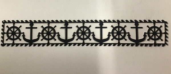 Scrap Collections -Anchor & Wheel Boarder (Blue) Cut Out