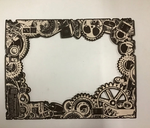 Scrap Collections - Cog Frame Cut Out