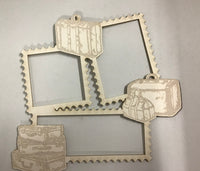 Scrap Collections - Luggage Frame Cut Out