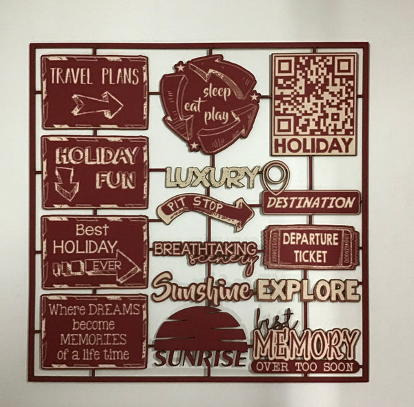 Scrap Collections - Travel signs cut out