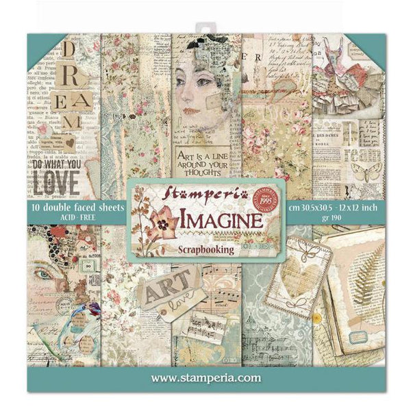 Stamperia - 12 x 12 Paper Pack - Imagine