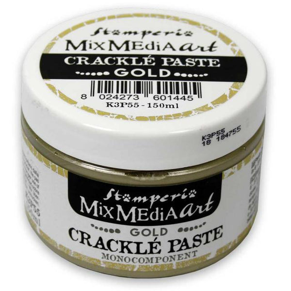 STAMPERIA - MIX MEDIA ART - CRACKLE PASTE GOLD