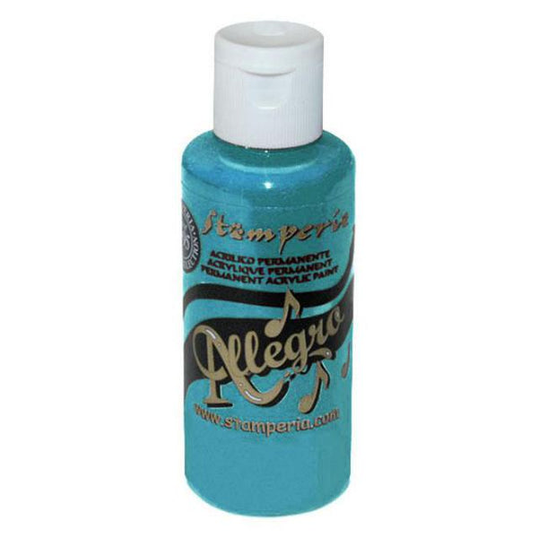 STAMPERIA - ALLEGRO - ACRYLIC PAINT - TURQUOISE- KAL25 59ML