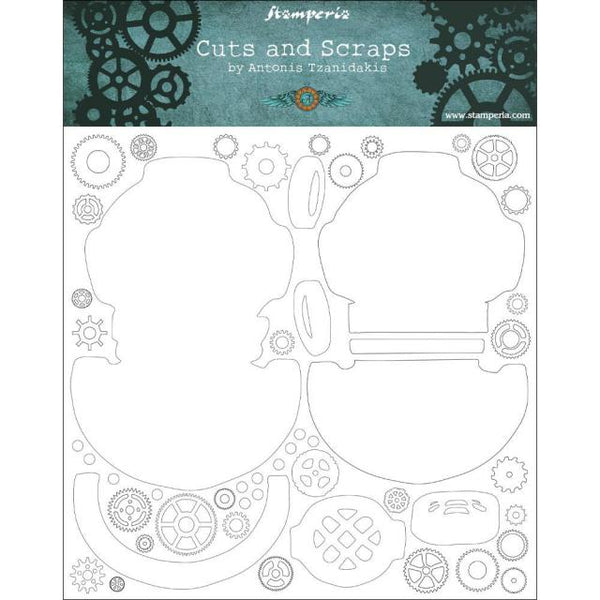 STAMPERIA - CUTS AND SCRAPS - GREYBOARD 30x30/1 mm - SEADIVER