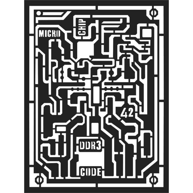 Stamperia - Mix Media Stencil - Microchip