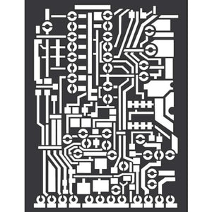 Stamperia - Mix Media Stencil - Circuit Board