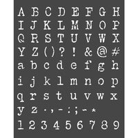 STAMPERIA - MIX MEDIA STENCIL - 20 X 25 ALPHABET AND NUMBERS