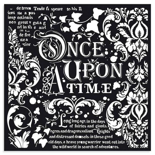 STAMPERIA - MIX MEDIA STENCIL - 30 X 30 ONCE UPON A TIME