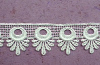 GREEN TARA -  LACE 3.5 CM  WHITE (SOLD PER METRE)