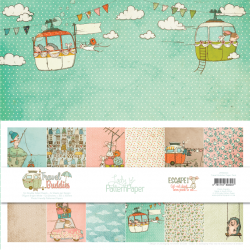 LADY PATTERN PAPER PACK- 12 X 12 TRAVEL BUDDIES