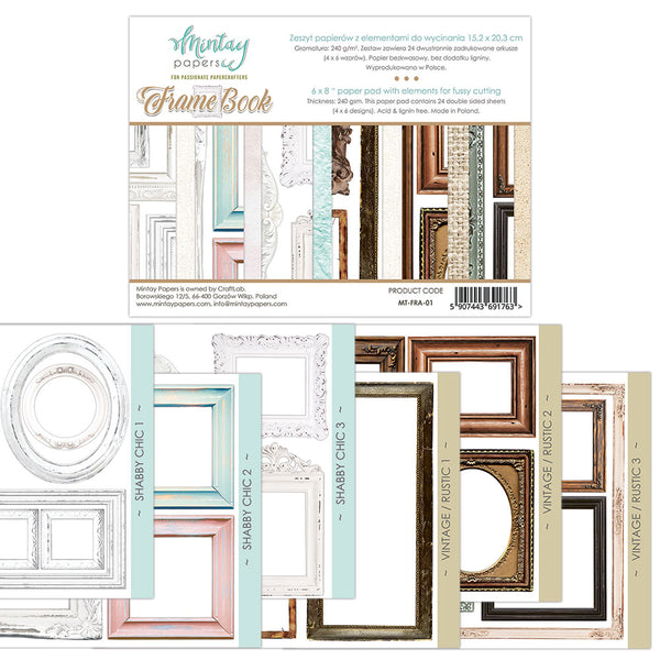 Mintay by Karola - 6 x8 Fussy Cut - Frames Book (Available in June)