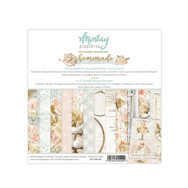 AVAILABLE NOW- MINTAY BY KAROLA - 6 x 6 PAPER PAD - HOMEMADE