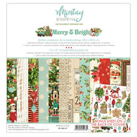 AVAILABLE NOW- MINTAY BY KAROLA - 12 x 12 PAPER PAD - MERRY & BRIGHT