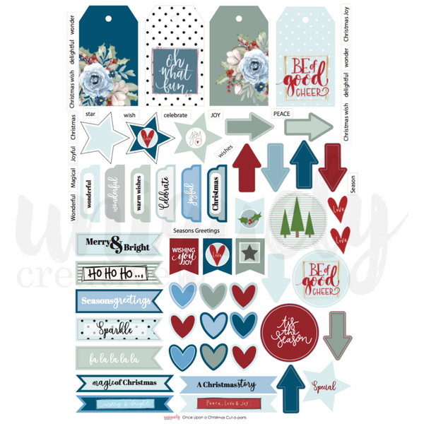 UNIQUELY CREATIVE - ONCE UPON A CHRISTMAS CUT -A-PART SHEET
