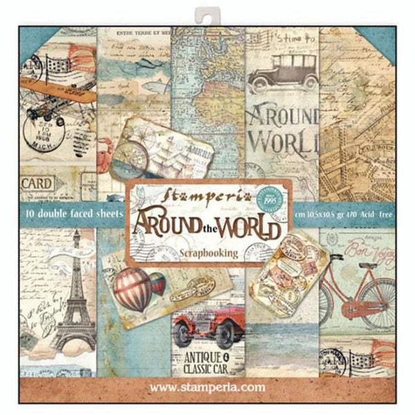 STAMPERIA - 12 x 12 PAPER PACK - AROUND THE WORLD