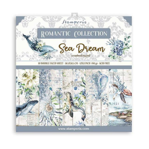 STAMPERIA -  12 x 12- PAPER PACK - ROMANTIC SEA DREAM