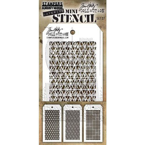 Ranger - Tim Holtz - Mini Stencil Set 27