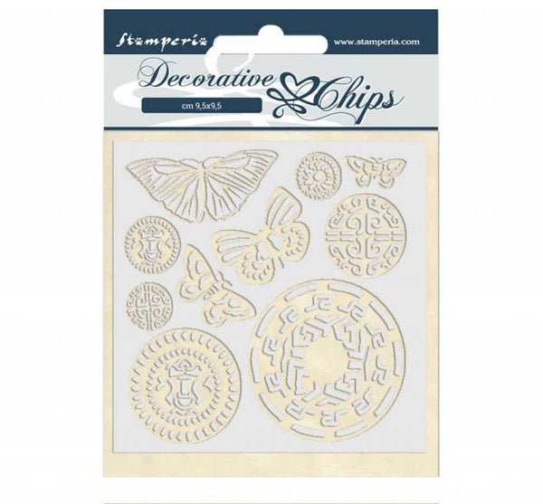 STAMPERIA - DECORATIVE CHIPS - AMAZON BUTTERFLY TRIBAL