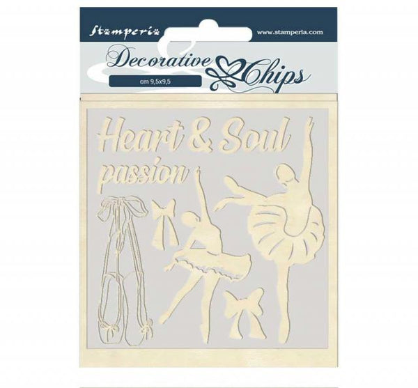 STAMPERIA - DECORATIVE CHIPS - PASSION DANCER
