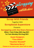 AUGUST 2021 SCRAPPING WITH THE STARS RETREAT - 2 NIGHTS - TWIN ROOM