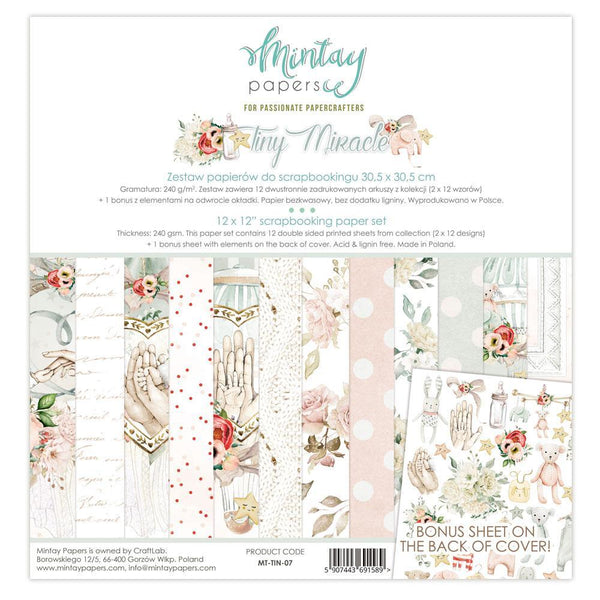 MINTAY BY KAROLA - 12 x 12 PAPER PAD - TINY MIRACLE