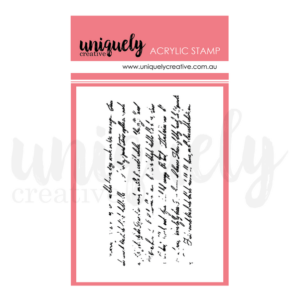 UNIQUELY CREATIVE - VINTAGE TEXT MARK MAKING STAMP