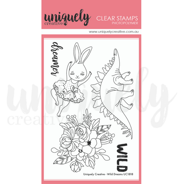 UNIQUELY CREATIVE - WILD DREAMS STAMP & DIE SET (SPECIAL PRICE FOR 2)