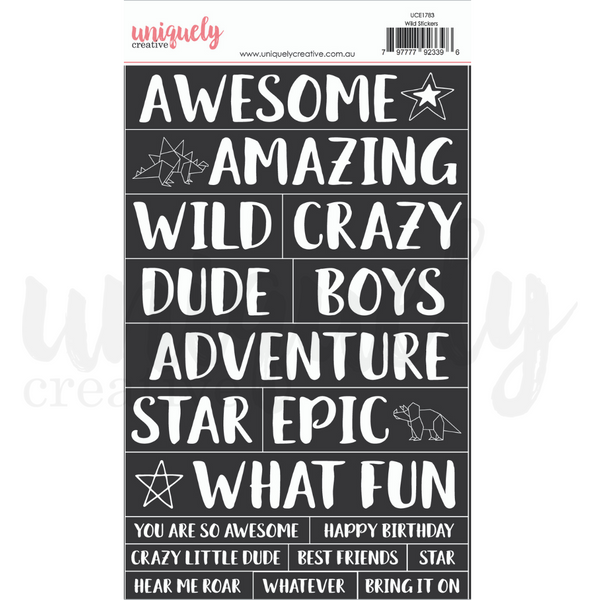 UNIQUELY CREATIVE - WILD STICKERS