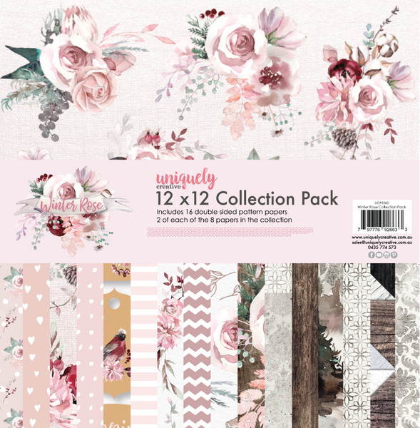 UNIQUELY CREATIVE - WINTER ROSE COLLECTION PAPER PACK