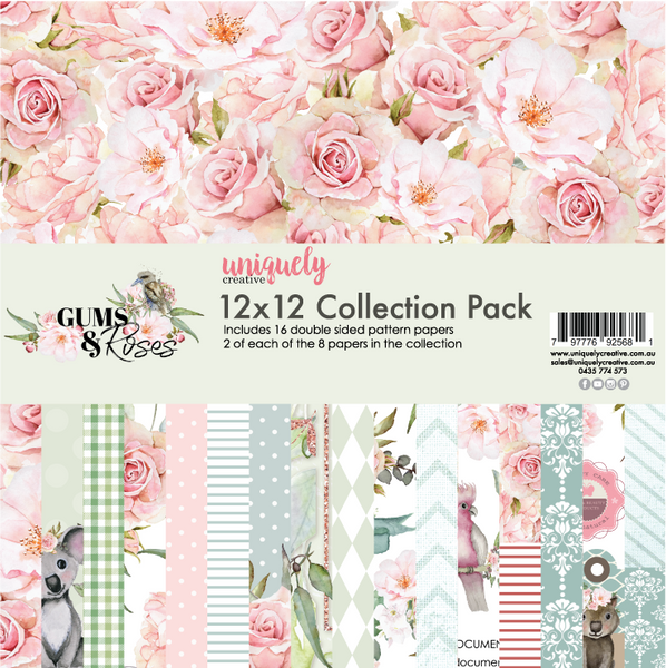 UNIQUELY CREATIVE -12x12 GUMS & ROSES COLLECTION PACK