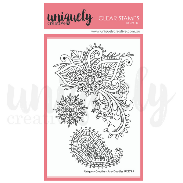 UNIQUELY CREATIVE - ARTY DOODLES STAMP