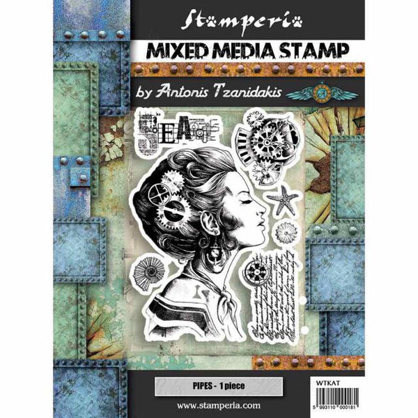 Stamperia - Mixed Media Stamp - Lady
